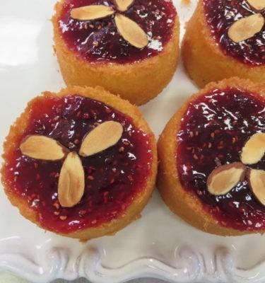Petite Almond Raspberry Cakes