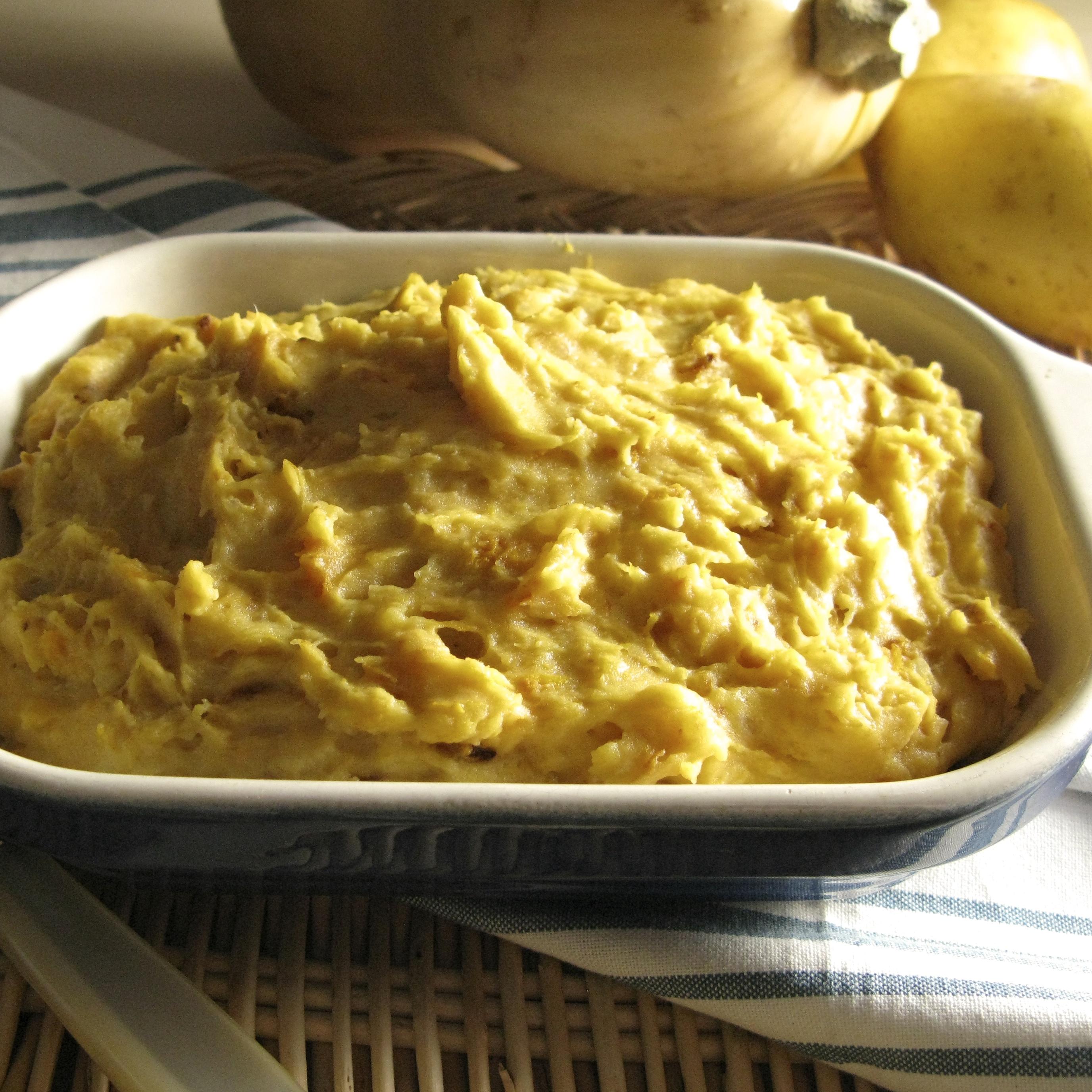 Mashed Butternut Squash and Yukon Gold Potatoes