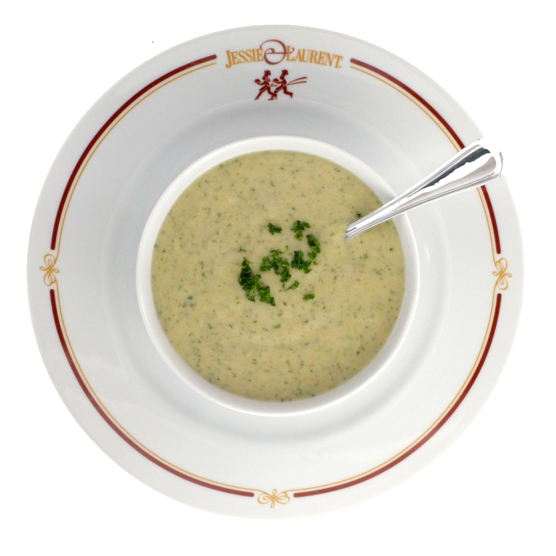 Irish Pub Style Roasted Potato & Arugula Soup