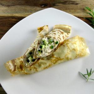 Zucchini Corn & Tarragon Crepes