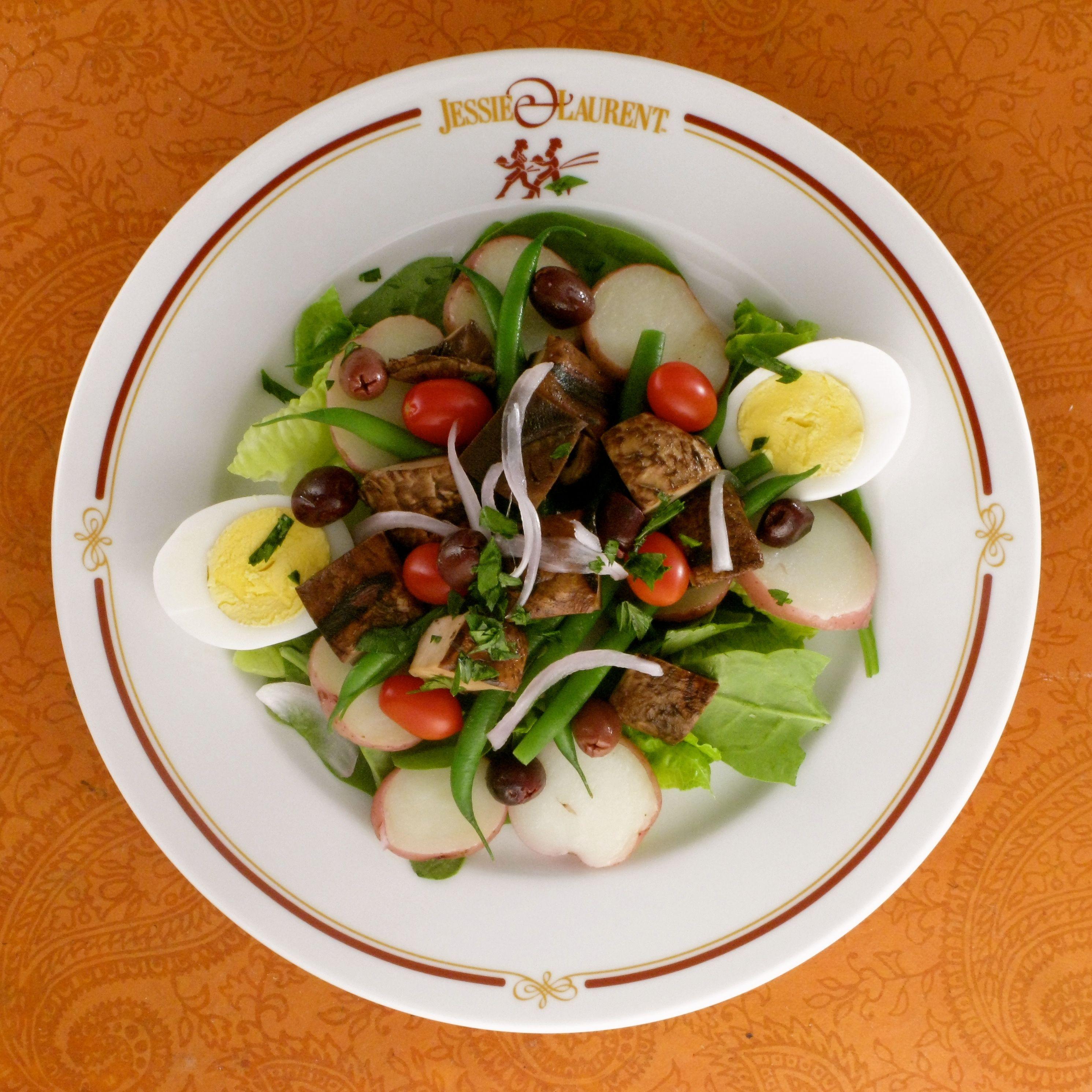Grilled Portobello Salad With Grainy Mustard Vinaigrette