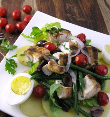 Niçoise Salad with Grilled Mahi Mahi