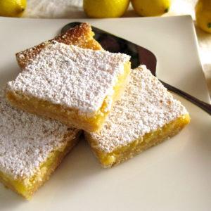 Fresh Lemon Curd Cookie Bars