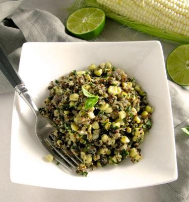 Corn, Basil and Quinoa Salad