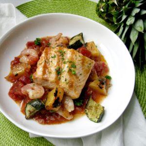 Grilled Shrimp & Salmon in Adobo Sauce