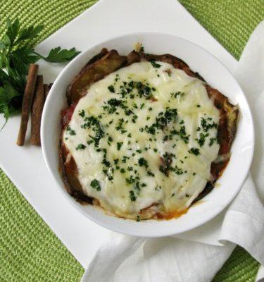 Vegetarian Greek Moussaka with Gruyere
