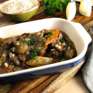 Braised Beef, Mushroom & Barley Pot-au-feu
