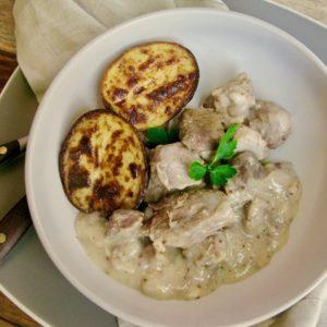 Velouté Mustard Pork Stew