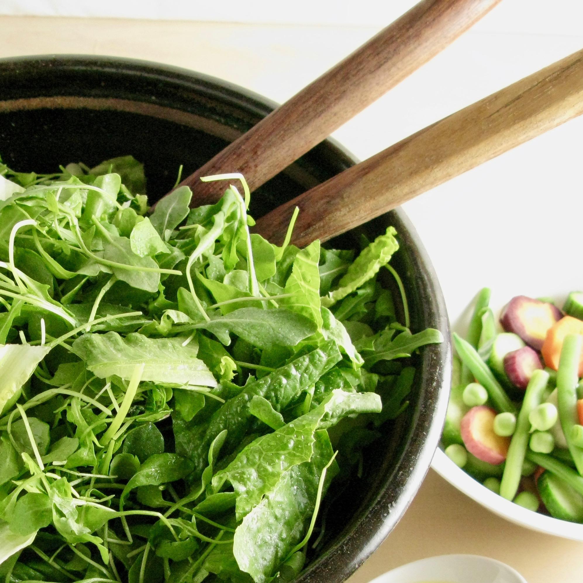 Organic Baby Arugula w Romaine & Goodies
