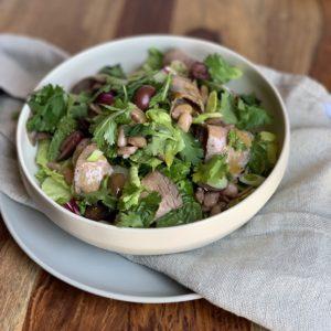Fajita Salad w BBQ Niman Ranch Tri Tip