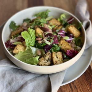 Fajita Salad with Tofu