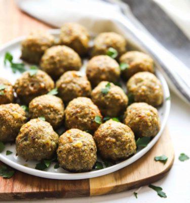 Sicilian-Style Chicken Meatballs
