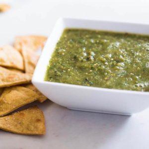 Grilled Tomatillo Salsa Verde