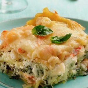 Fresh Salmon & Leek Lasagna