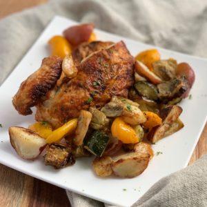 Organic Roast Chicken with Ratatouille