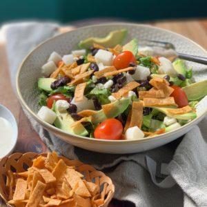 Vegetarian Taco Salad with Avocado