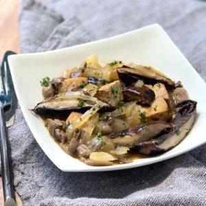 Tofu and Portobellos with Picatta Sauce