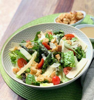 Caesar Salad with Grilled Asparagus