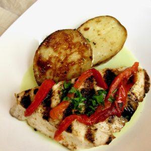 Grilled Tombo Ahi Tuna with Watercress Sauce