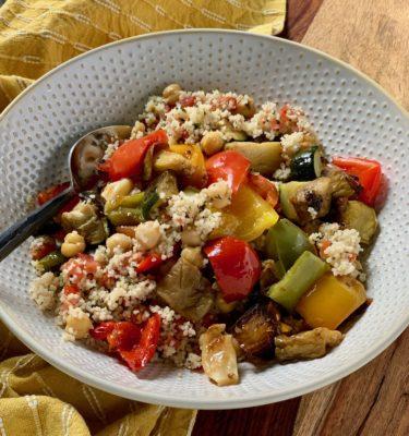 Saffron Vegetable & Chickpea Couscous