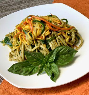 Pesto Spaghetti Primavera