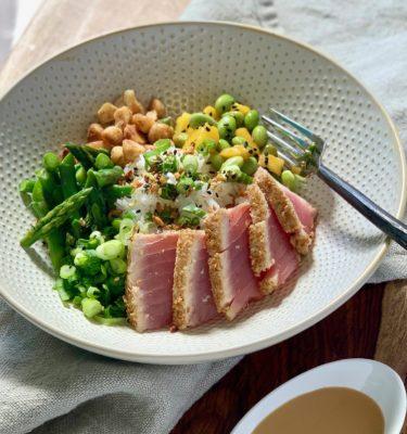 Seared Sesame Crusted Hawaiian Tuna Bowl