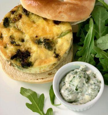 Brunch! Broccoli Cheddar Egg Sandwich