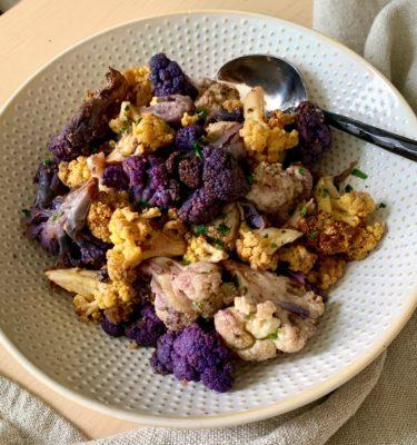 Roasted Tri-Color Cauliflower with Zatar