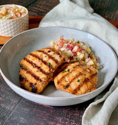 Grilled Asada Chicken with Pineapple Jicama Salsa