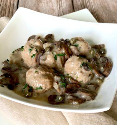 Lemon Turkey Meatballs with Picatta Sauce