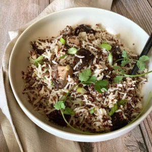 Quinoa & Basmati Pilaf with Mushrooms