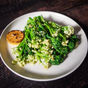 Florentino Broccolini with Preserved Lemon Parsley Garlic Saute
