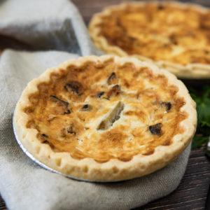 Gluten Free Portobello Mushroom and Artichoke Quiche