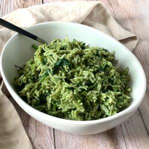 Greek Spinach Rice Medley