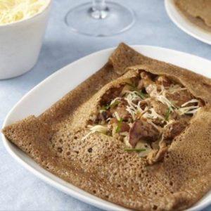 Gruyere & Mushroom Crepes - Brittany Style