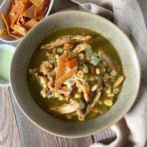 Chicken Tortilla Soup with Fresh Corn