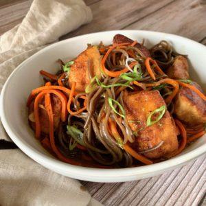 Chicken Kuwayski with Japanese Buckwheat Noodles