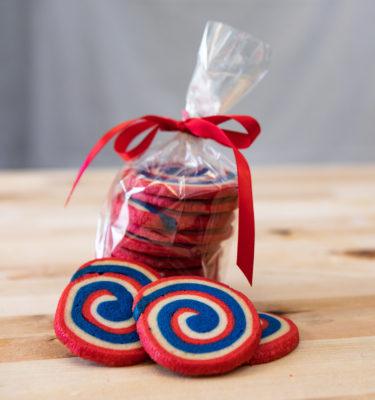 4th of July Pinwheel Cookies